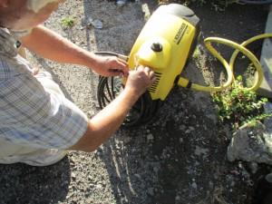 高圧洗浄機 水抜き
